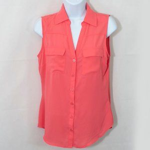 New York & Co Chiffon Button Front Blouse S 2207X